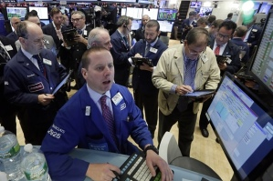Floor of the NY stock exchange today. Photo by Richard Drew/AP