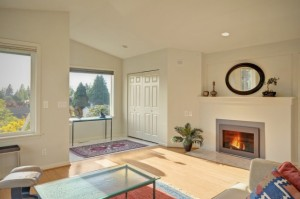 Light-filled home in Seattle. 2650 sq ft. Master suite upstairs + two bedrooms on main. For more info contact Teri Barry, Keller Williams, 206-632-2636